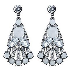 Mood - Tonal crystal statement drop earring