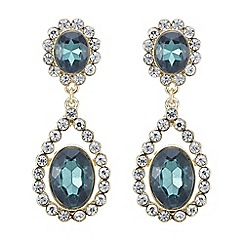 Mood - Green crystal surround drop earring