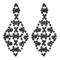 Mood - Jet crystal diamante chandelier earring