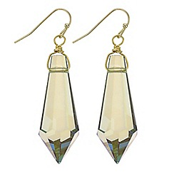 Mood - Green crystal shard drop earring
