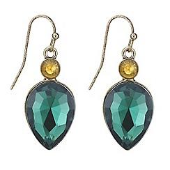 Mood - Metallic green teardrop drop earring