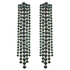 Mood - Green crystal diamante stand drop earring
