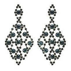 Mood - Green crystal diamante chandelier earring