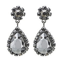 Mood - Grey crystal peardrop earring