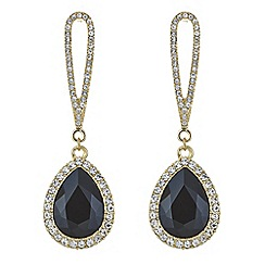 Mood - Jet crystal pave droplet earring