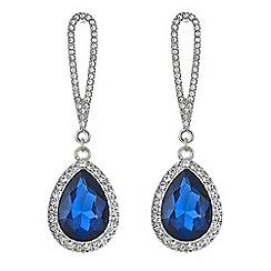 Mood - Metallic blue pave teardrop drop earring