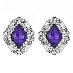 Mood - Purple crystal surround stud earring