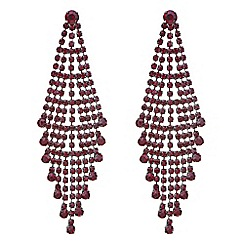 Mood - Red crystal diamante chandelier earring