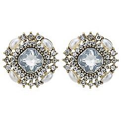 Mood - Crystal encrusted circle stud earring