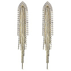 Mood - Gold crystal diamante arch shower drop earring