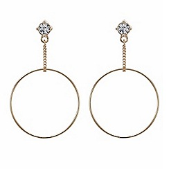 Mood - Rose gold chain drop front facing hoop earring