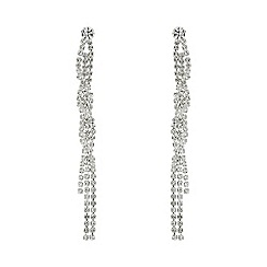 Mood - Silver crystal diamante twist earring