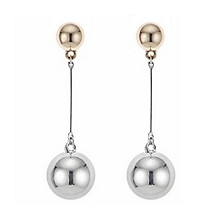 Mood - Multi tone double circle drop earring