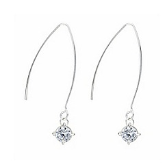 Mood - Silver crystal elegant drop earring