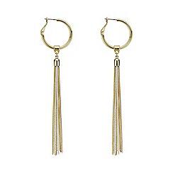 Mood - Gold multi tone hoop fringed earring