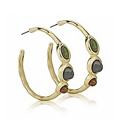 Mood - Gold crystal multi tone earring