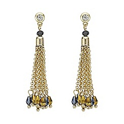 Mood - Gold beaded tassel drop earring