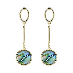Mood - Gold abalone inspired circle earring
