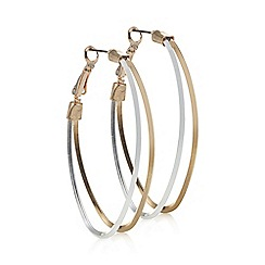 Mood - Multi tone double hoop earring