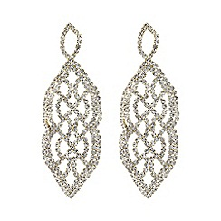 Mood - Gold crystal diamante lattice earring