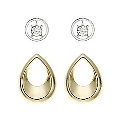 Mood - Multi tonal mixed shape earring set