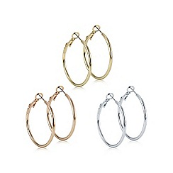 Mood - Multi tone hoop earring set