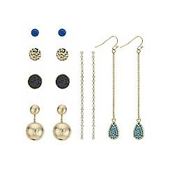 Mood - Set of six multi colour earring pack
