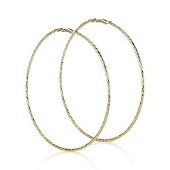 Mood - Large gold twisted hoop earring