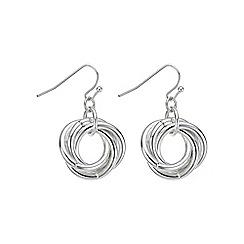 Mood - Silver knot drop earring