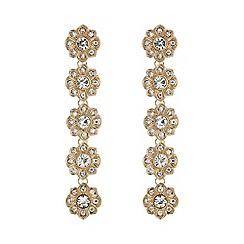 Mood - Rose gold crystal floral droplet earring