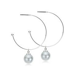 Mood - Pearl droplet hoop earring