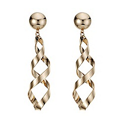 Mood - Rose gold statement twist drop earrings