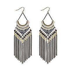 Mood - Gold tonal bead and tassel earrings