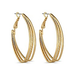 Mood - Gold angular hoop earring