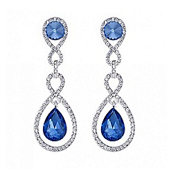 Mood - Blue crystal multi link peardrop earring