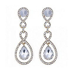 Mood - Gold crystal multi link peardrop earring