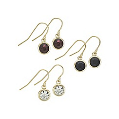 Mood - Gold multi tone crystal earring set