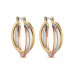 Mood - Multi tone triple hoop layered earring