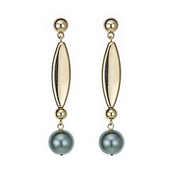 Mood - Green pearl stick drop earring
