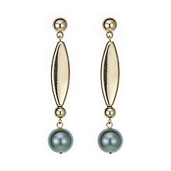 Mood - Green pearl stick drop earring