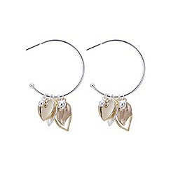 Mood - Leaf and heart multi tone charm earring