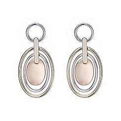 Mood - Multi tone oval hoop drop earring