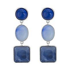 Mood - Blue tonal mixed shape drop earring