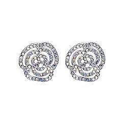 Mood - Silver aurora rose pave stud earring