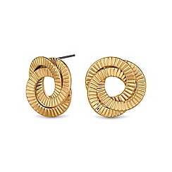 Mood - Gold textured swirl stud earring