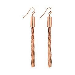 Mood - Rose gold multi strand tassel earring