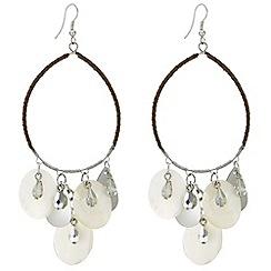 Mood - Shell hoop earring