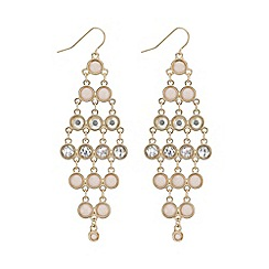 Mood - Tonal pink chandelier earring