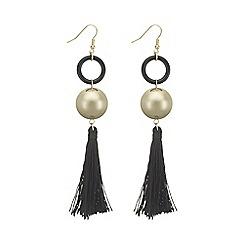 Mood - Black tassel and sphere earring