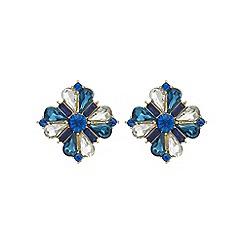 Mood - Teal floral earring